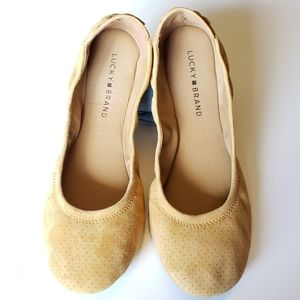 Lucky Brand Echo Ballet Flat in Yellow 9.5